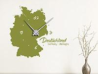 Wandtattoo Uhr Deutschland im Flur
