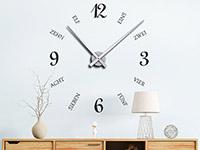 Wandtattoo Uhr Schrift und Zahlen | Bild 2