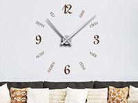 Wandtattoo Uhr Schrift und Zahlen | Bild 3