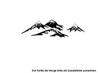 Wandtattoo Bergsee Motivansicht