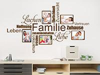 Wandtattoo Fotorahmen Familienbegriffe | Bild 2