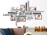 Wandtattoo Fotorahmen Familienbegriffe | Bild 3