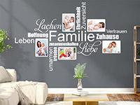 Wandtattoo Fotorahmen Familienbegriffe | Bild 4