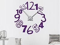 Wandtattoo Uhr Kreative Zahlen im Wohnzimmer