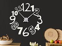 Wanduhr Wandtattoo Uhr Kreative Zahlen in weiß