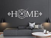 Wandtattoo Uhr Home Klassisch | Bild 2