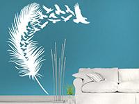 Wandtattoo Feder mit Vogelschwarm | Bild 2