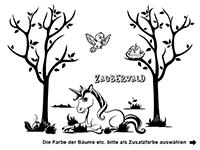 Wandtattoo Zauberwald