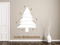 Wandtattoo Moderner Weihnachtsbaum mit Sternen | Bild 2