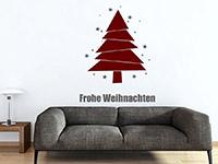 Wandtattoo Moderner Weihnachtsbaum mit Sternen | Bild 4