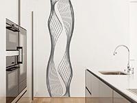 Wandtattoo Wandbanner Liquid Linien im Wohnzimmer