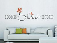 Wandtattoo Home sweet home mit Schmetterlingspärchen | Bild 2