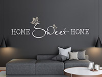 Wandtattoo Home sweet home mit Schmetterlingspärchen | Bild 3