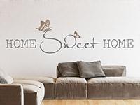 Wandtattoo Home sweet home mit Schmetterlingspärchen | Bild 4