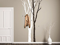 Wandtattoo Garderobe Birken | Bild 3