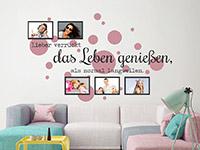 Wandtattoo Fotorahmen Lieber verrückt | Bild 2