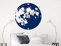 Wandtattoo Uhr Mond im Schlafzimmer