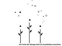 Wandtattoo Blumen mit Seifenblasen Motivansicht