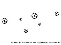 Wandtattoo Fußball Mix Motivansicht