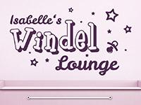 Wandtattoo Windel Lounge