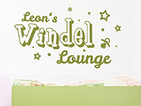 Wandtattoo Windel Lounge im Kinderzimmer