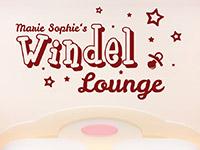 Baby Wandtattoo Windel Lounge auf heller Wand