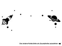 Wandtattoo Raumstation mit Wunschname Motivansicht