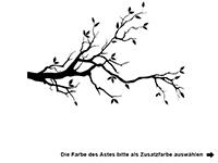 Wandtattoo Ast mit Herzen und Vögelchen Motivansicht