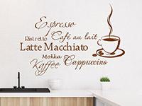 Wandtattoo Kaffee Aroma | Bild 3