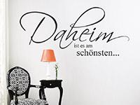 Wandtattoo Daheim ist es am schönsten... | Bild 2