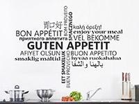 Wandtattoo Guten Appetit Multikulturell in der Küche