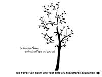 Wandtattoo Fotorahmen Baum Ein bisschen Mama... Motivansicht