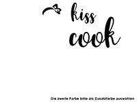 Wandtattoo Kiss the cook Motivansicht
