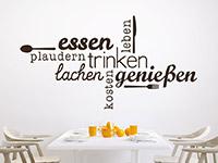 Wandtattoo Wortwolke Essen und Genießen | Bild 2