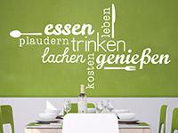 Wandtattoo Wortwolke Essen und Genießen | Bild 4