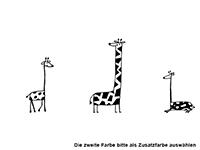 Wandtattoo Lustige Giraffen Motivansicht