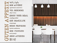 Wandtattoo Guten Appetit in vielen Sprachen | Bild 4