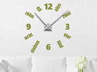 Wandtattoo Uhr Designzeit im Wohnzimmer