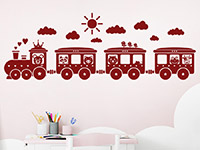 Wandtattoo Kinder Eisenbahn