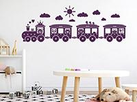 Wandtattoo Kinder Eisenbahn im Kinderzimmer