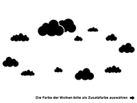 Wandtattoo Kuschelzone mit Wolken Motivansicht
