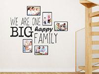 Wandtattoo Fotorahmen Big happy family | Bild 2
