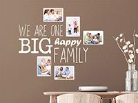Wandtattoo Fotorahmen Big happy family | Bild 4
