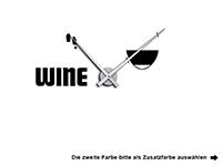 Wandtattoo Uhr Wine Motivansicht