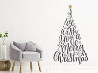 Wandtattoo Weihnachtsbaum Merry Christmas | Bild 2