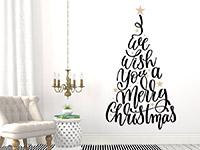 Wandtattoo Weihnachtsbaum Merry Christmas | Bild 3