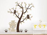 Wandtattoo Baum mit Vögeln und Teddybären | Bild 2