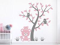 Wandtattoo Baum mit Vögeln und Teddybären | Bild 4