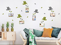 Wandtattoo Vögel mit Fotorahmen | Bild 3