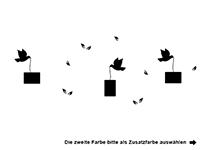 Wandtattoo Fotorahmen Vögel Motivansicht